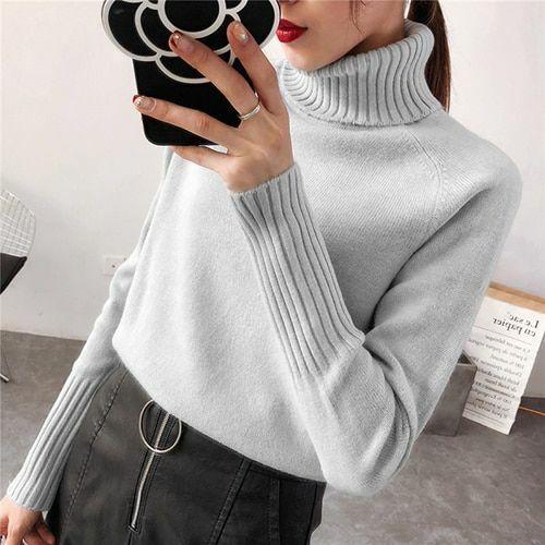 Le donne Maglione Pullover Cashmere Lavorato a Maglia Jersey Maglione Pull moda autunno inverno