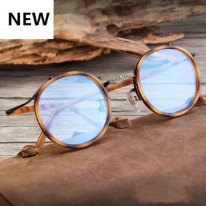 Vintage-Literary-TR90-Metal-Retro-eyeglass-frame-Round-Clear-Glasses-Women-Men
