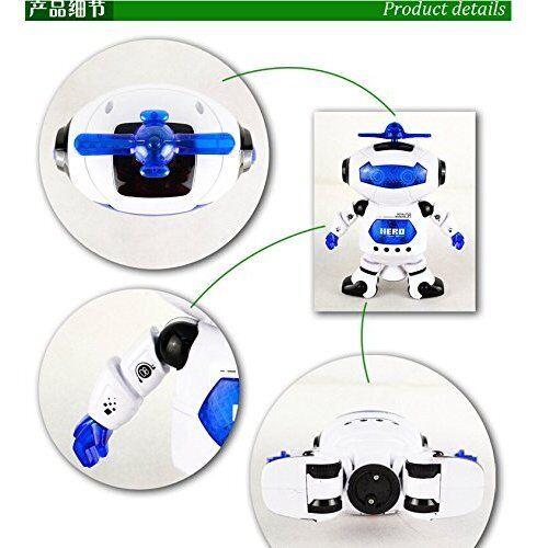 Xmas Toy Gift Electronic Walking Dancing Smart Space Robot Astronaut Music Light