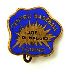 Spilla Con Smalti Centro Baseball Joe Di Maggio Torino (Lorioli Fratelli Milano)