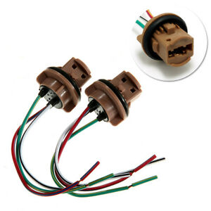 Details about Universal T20 7440 7443 Wiring Harness Bulb Socket ke on