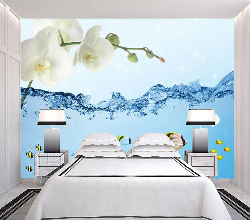 Gelb Pear Flower 3D Full Wall Mural Photo Wallpaper Printing Home Kids Decor
