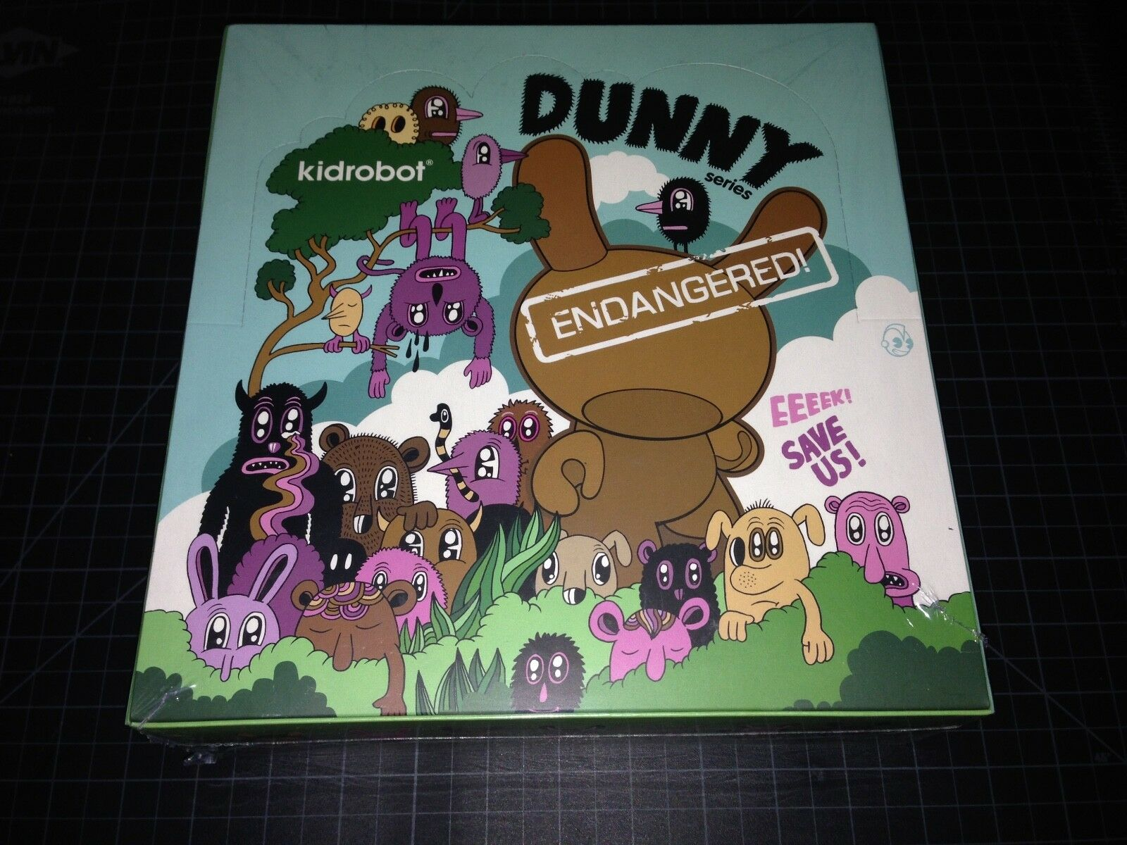 Kidrobot x DUNNY EndangeROT FACTORY SEALED Case Blind Boxes Vinyl Figure Toy