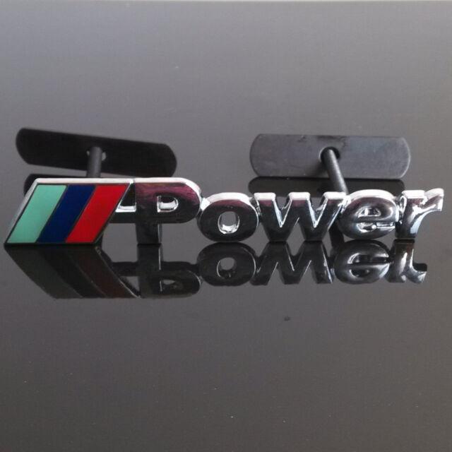 Car Metal 3D Power Logo Front Grille Badge Emblem For BMW 3 5 7 Series X1 X3 X5