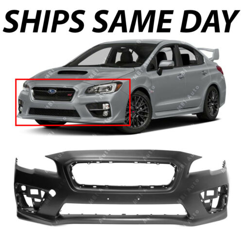 NEW Primered Front Bumper Cover Fascia Replacement for 2015-2019 Subaru WRX STI