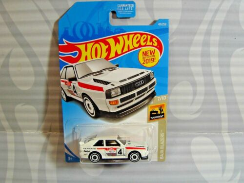 2019 Hot Wheels /'/' Baja Jacke Blazer/'/' #43 = `84 Audi Sport Quattro = Weiß Us