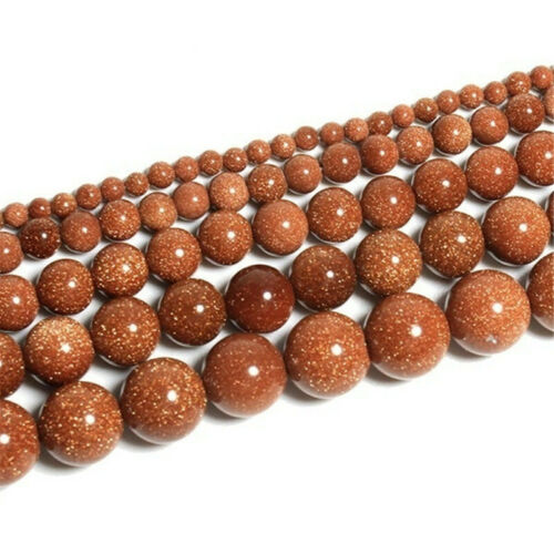 2020 40PCS Natural Stone Gold Sandstone Beads DIY 4//6//8//10 mm for Jewelry Making