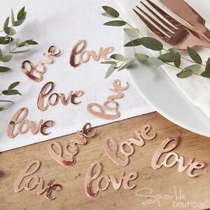 ROSE-GOLD-039-LOVE-039-TABLE-CONFETTI-Foiled-Sprinkles-Scatter-Wedding-Decoration