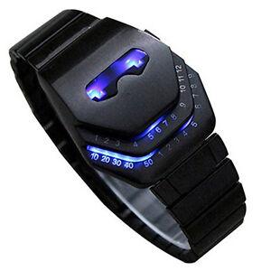 Men-039-s-Peculiar-COOL-Gadgets-Wristwatch-Novelty-Snake-Head-Design-Blue-LED-Watch