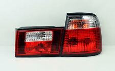 Crystal Red Clear Rear Tail Lights FITS BMW E34 5 Series 4Dr 1988-1995