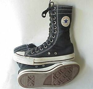 Vintage Converse Chuck Taylor All Star VERY High Top Tennis Shoes SZ ... 34fda231d82d