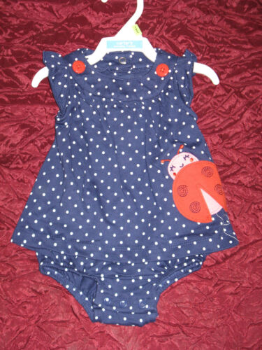 Baby girl New one piece outfit set by Carter/'s playwear dress lady bug