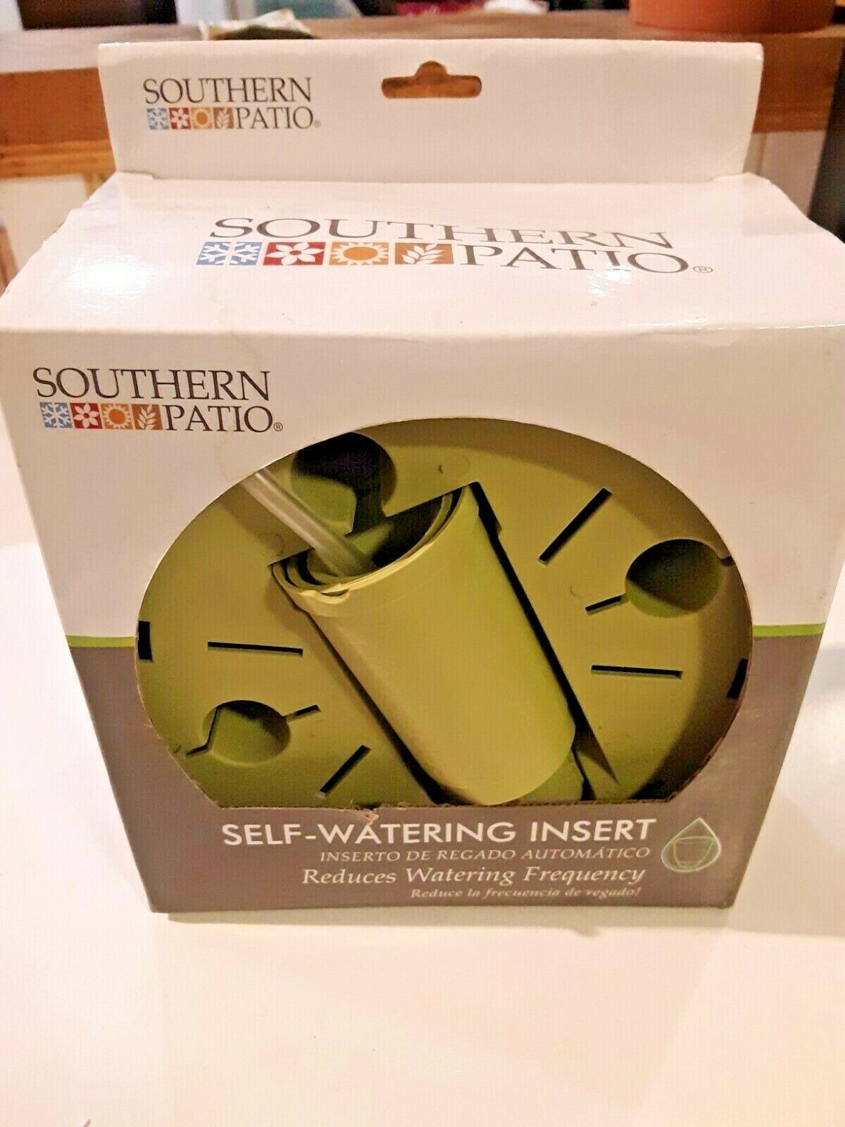 Southern Patio Self-Watering Planter Insert with Adjustable Height Refill Tube