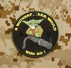 Tactical Yoda Mini Gun 3D PVC Patch Morale Ac-130 Door Gunner VELCRO® Brand