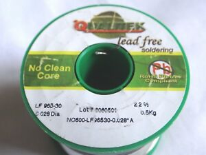 ref:aA20 Alpha Solder Audiophile 3/% Silver SAC305 LEAD FREE flux cored 0.75mm