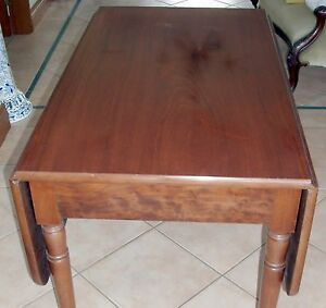 GENUINE-ANTIQUE-VICTORIAN-DROP-SIDE-MAHOGANY-DINING-TABLE-EXCELLENT-CONDITION