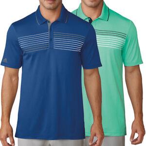 Adidas Golf Men's Essentials Textured Stripe Polo Shirt, Brand New