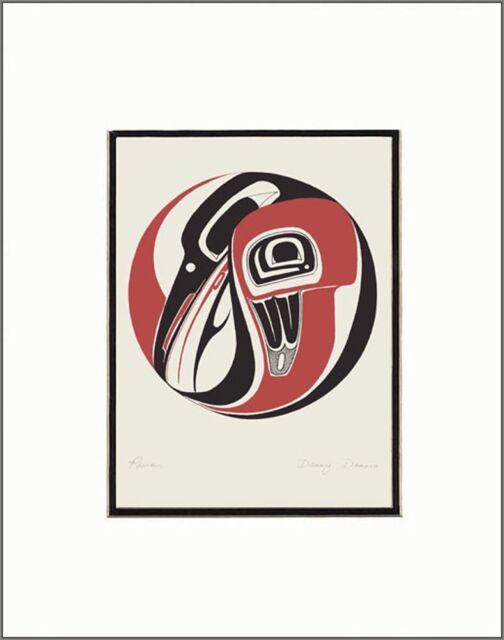 SUPERFLEAS  print RAVEN DRUM by Gitskan British Columbia artist DANNY DENNIS