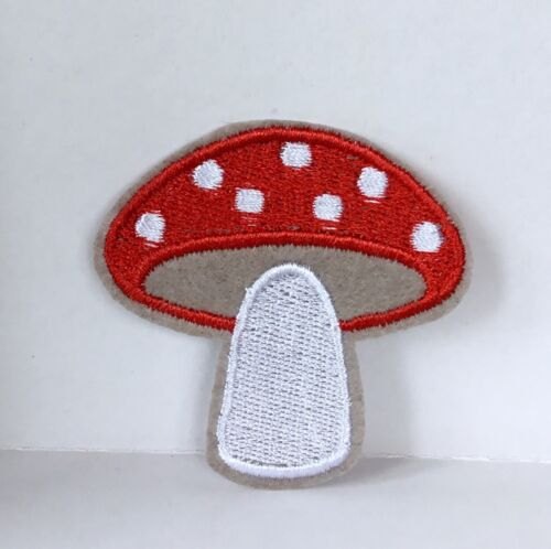 TOADSTOOL MUSHROOM FAIRY GARDEN  EMBROIDERED APPLIQUÉ PATCH SEW OR IRON ON #430