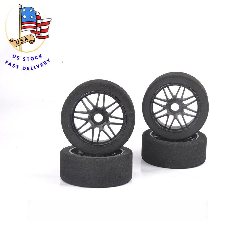 4Pcs GT GT GT XO-1 RC 1 8 Foam Tire&Nylon Wheel Rims 17mm Hex For HSP HPI Racing Car cfcb92