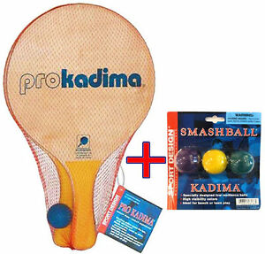 Sports Design Pro Kadima Madkot 2 Wood Paddles & 1 Ball included + 3 Extra balls