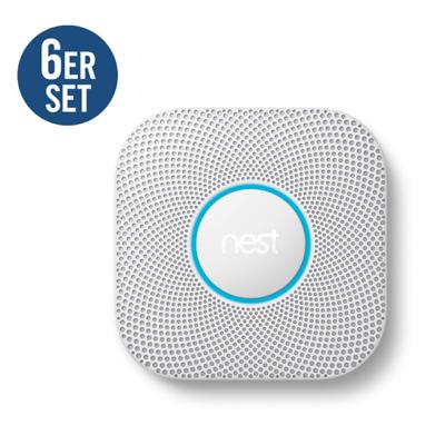 Nest Protect 6er Set Rauchmelder und Kohlenmonoxidmelder 2. Generation