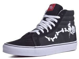 98ae415947 Vans Sk8 Hi Reissue Men s Snoopy Bones Canvas Suede Skateboard Shoes ...