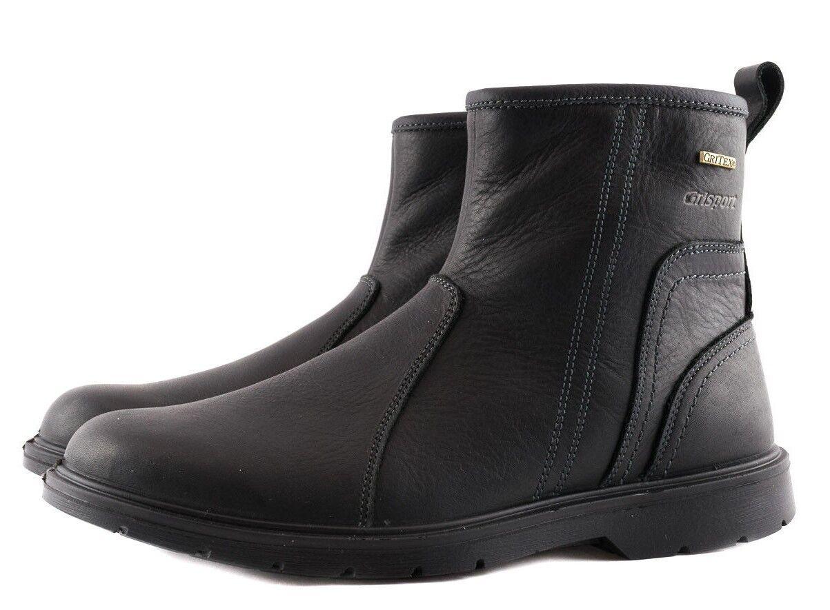 grisport 40410oV8LG negro negro Oliato Stivaletto hombres Man Made in  Leather