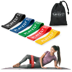Latex Free Resistance Loop Bands Home Gym Exercise Yoga Pilates Workout Set UK