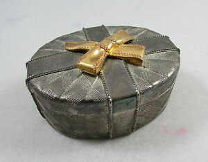 Godinger Silver Art Co Silver and Gold Plated Trinket Jewelry Box