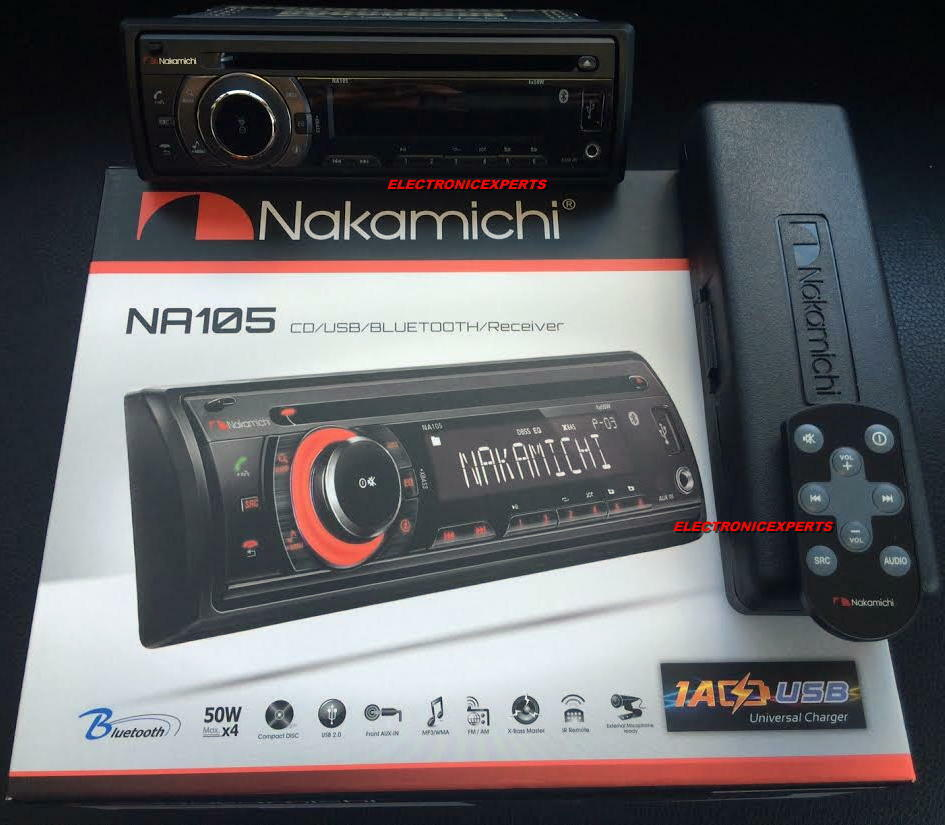 Wholesale Lot 5 NAKAMICHI AM//FM//CD//MP3//WMA Receiver with Bluetooth NA105