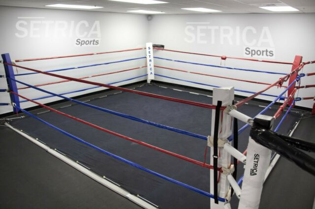 Black Color 16 Foot Professional Wrestling Boxing Ring Canvas Cover