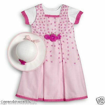American Girl Spring Picnic Set Outfit Sz Size 6X Tee Jumper Hat NWT NIB Easter