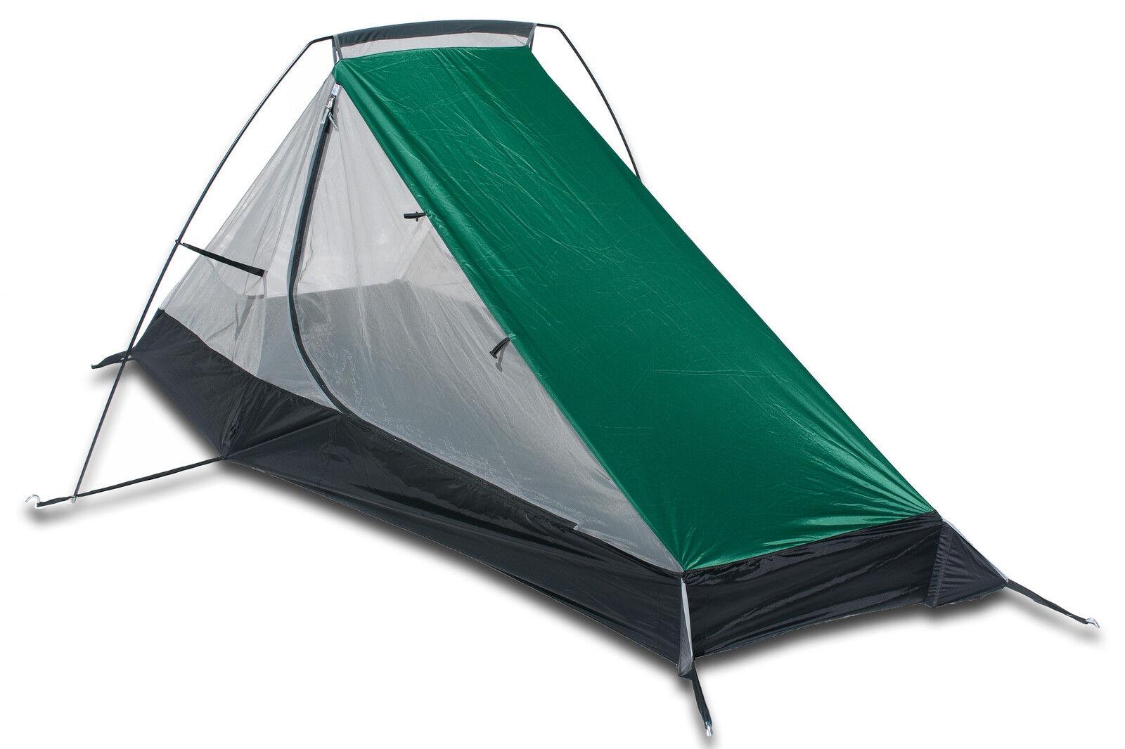 Aqua Quest West Coast Bivy Tent - One Person Single Pole Shelter - Green & White