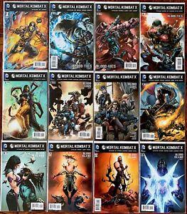 Mortal Kombat X #1-12 Complete Series 2015 D.C. Comics. Shawn Kittelsen.