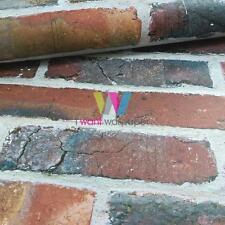 DIRECT BRICK PATTERN REALISTIC FAUX STONE WALL EFFECT PHOTO WALLPAPER J44928