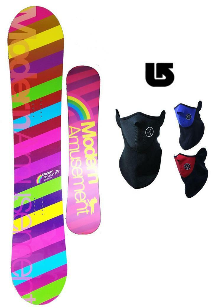 400 144cm Modern Amusement Palm Snowboard +Face Mask Gaiter+ Burton decal az20