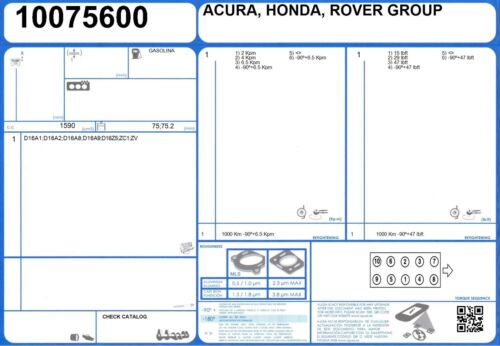 52102300 Genuine AJUSA OEM Replacement Cylinder Head Gasket Seal Set