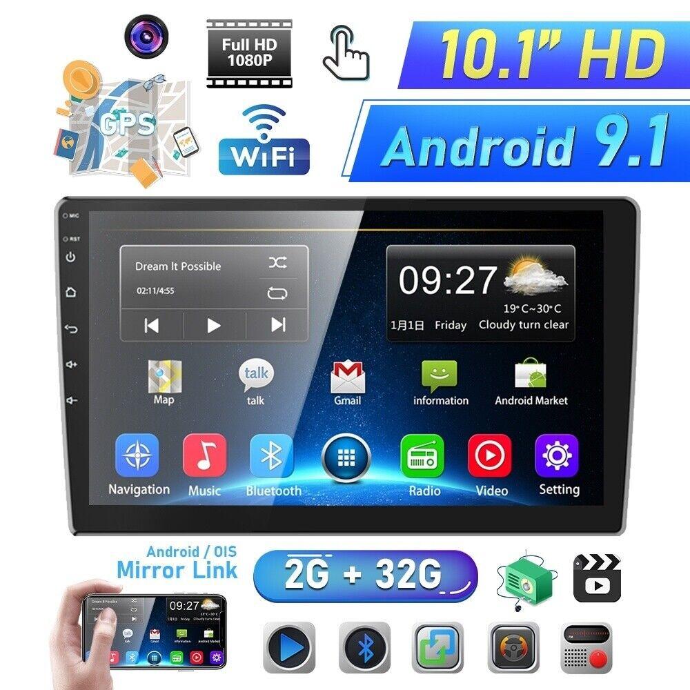 autoradio: 2G+32G 10.1″ Autoradio Android 9.1 GPS Navi Quad Core WiFi Bluetooth USB MP5