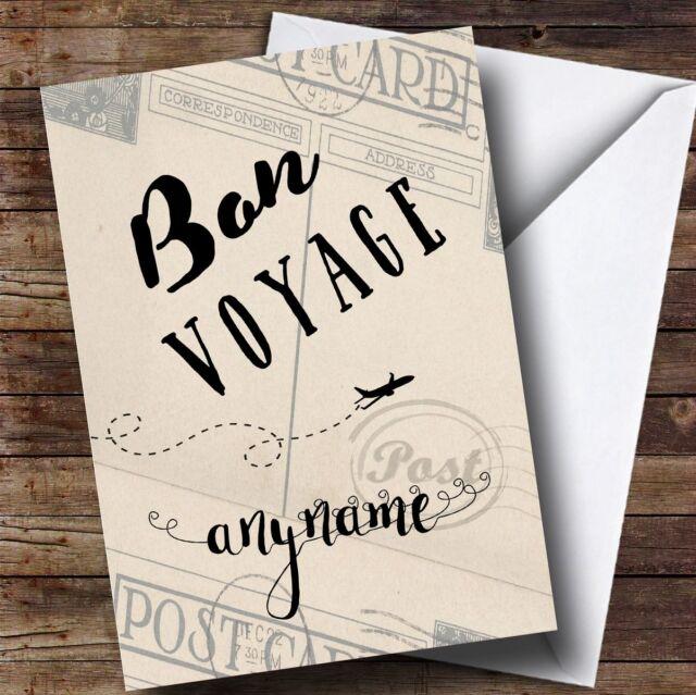 Personalised Bon Voyage Plane Classic Bon Voyage Travel Card