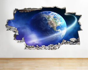 Poster Murali Per Camere Da Letto : Wall stickers moon space earth planets boys bedroom decal poster