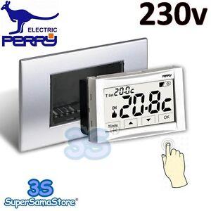 3s termostato ambiente 230v da incasso moon soft touch for Perry termostato wifi