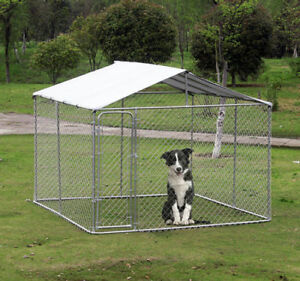 10x10ft Outdoor Pet Dog Run House Kennel Shade Cage