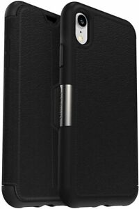 OtterBox-STRADA-SERIES-Leather-Folio-Case-for-iPhone-XR-Shadow-Black