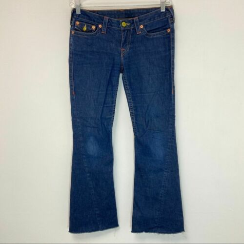 True Religion Joey Cropped Flare Jeans