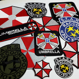 RESIDENT-EVIL-Umbrella-Corporation-Embroidered-IRON-ON-PATCH-Store-NEW