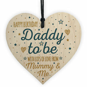 Image Is Loading Happy Birthday Daddy To Be From Bump Wood