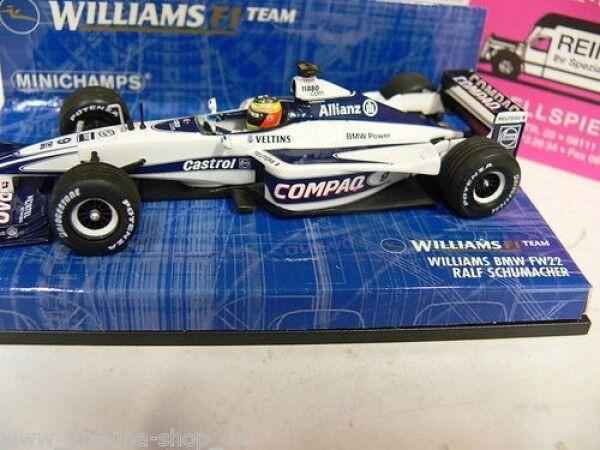 1 43 Minichamps williams BMW FW 22 ralf schumacher 2000 400010005