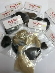 RUBY RED REBORN NuBorn™ MOHAIR - CHOOSE COLOURS CURVE OR STRAIGHT 0.25oz UK
