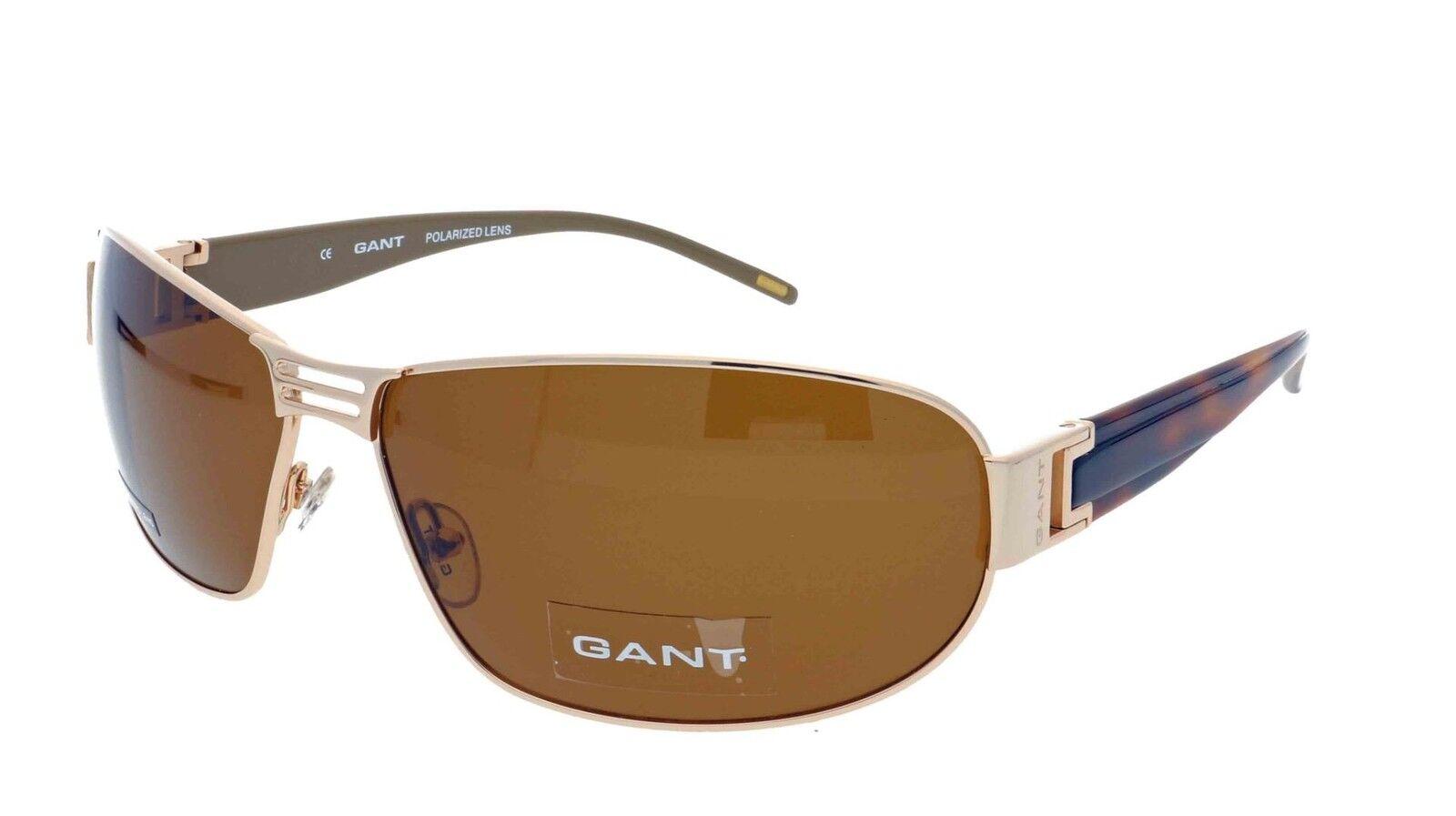 GANT GS GS GS Captree GLD-1P Mens Genuine Designer Polarised Sunglasses + Case braun | Modern Und Elegant  a4805a